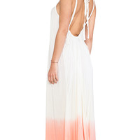 Tiare Hawaii Coco Low Scoop Back Maxi Dress in Cream