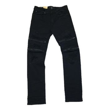 Jordan Craig - Mens - Vintage Biker Jeans With Zippers