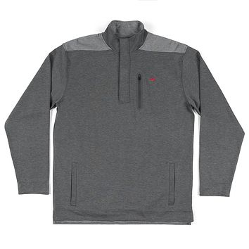 FieldTec™ Ridgeway Performance Pullover in Charcoal Gray by Southern Marsh