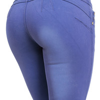 Trendy Jeans-Cute Butt Lifting Pants-Lavender skinny jeans