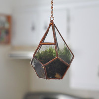 Hanging Teardrop Glass Terrarium with Door -- moss terrarium -- stained glass terrarium -- terrarium supplies -- eco friendly