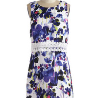 Kensie Mid-length Sleeveless A-line Painting for Tonight Dress