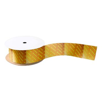 Birthday (yellow) satin ribbon