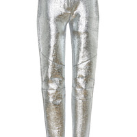 High Waisted Metallic Pant | Moda Operandi