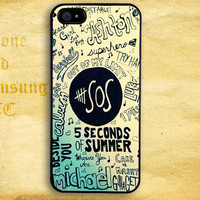 5SOS Unpredictable Design for iPhone  4 4s 5 5s 5c iPod 4 5 Touch and Samsung Galaxy s3 s4 s5 Case