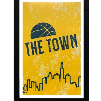 """Vintage Golden State Warriors Poster - The Town Art Print - 13x19"""""""