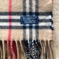 BURBERRYS OF LONDON ! VINTAGE CLASSIC CHECK DARK CAMEL LAMBSWOOL SCARF !