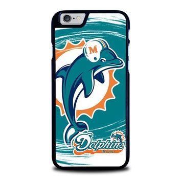miami dolphins iphone 6 6s case cover  number 1