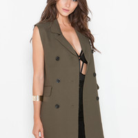 The Nines Double-Breasted Oversized Vest