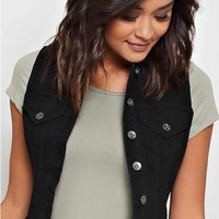 PARIS BLUES Black Denim Vest