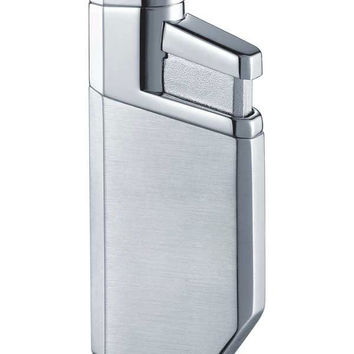 Visol PortofiNo Satin Chrome Wind-Resistant Torch Flame Lighter