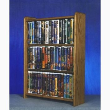 Wood Shed Solid Oak Cabinet for DVD's, VHS tapes, books and more