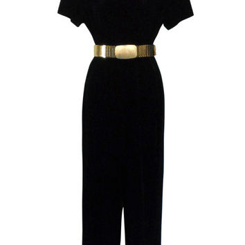 c29ff4acc5fe Velvet Jumpsuit Black Jumpsuit One Piece Jumpsuit 90s Jumpsuit Evening  Jumpsuit Women Jumpsuit Mock Neck 90s