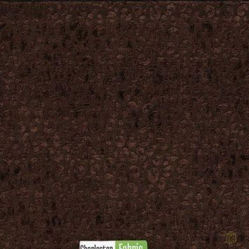 Brown Jacquard Animal Print Fabric