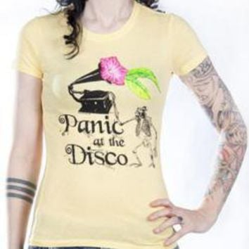 ROCKWORLDEAST - Panic At The Disco, Girls T-Shirt, Dead Monkey DJ