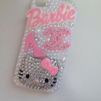 Bling Pink Hello kitty/Barbie Case