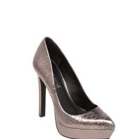 Sochi High-Heel Basic Pointed-Toe Heels in Silver/White/Brown - BCBGeneration