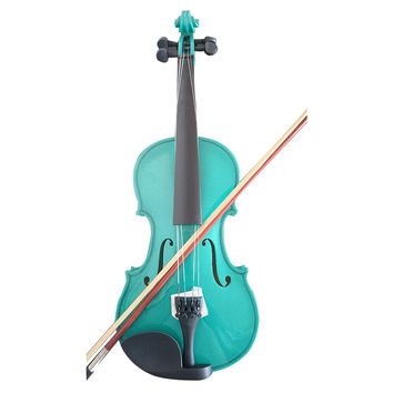 Student Acoustic Violin Full 1/8 Maple Spruce with Case Bow Rosin Green Color