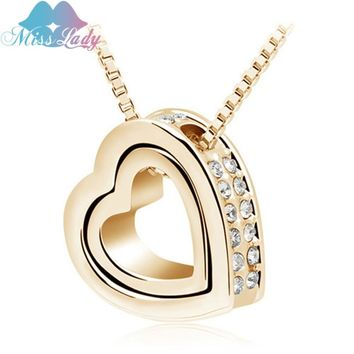 Valentine's Day Gold color Austrian Crystal design Valentine's Day