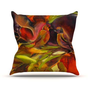 "Kristin Humphrey ""Mirrored in Nature"" Outdoor Throw Pillow"