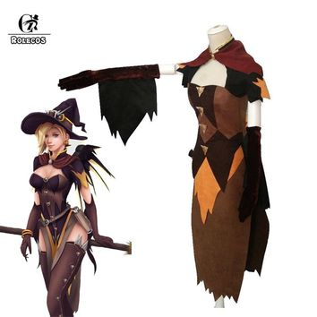 ROLECOS OW Game Watch Over Cosplay Costume Mercy Cosplay Angela Ziegler Costume Over Watch Game Women Halloween OWT
