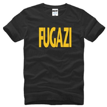 Fugazi new design T Shirts Men Cotton Short Sleeve HEAVY METAL PUNK POP Men's T-Shirt Summer Style Male Music Rock Band Top Tees