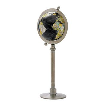 Polished Globe on Straight Stand
