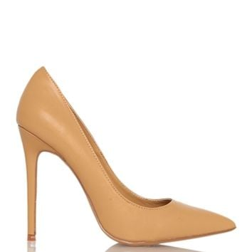 Shoe Republic LA Anniston Basic Pump - Camel from Shoe Republic LA at ShopRoxx.com
