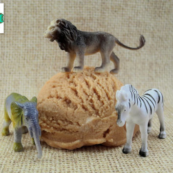 Safari Surprise Mondo Bath Truffle - Chocolate Scented - Kids Toy Bath Bomb, Bubble Bath, Bath Melt, All in One!