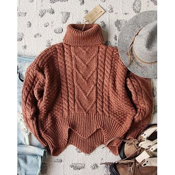 Paige Sweet Sweater in Maple
