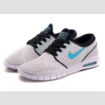 NIKE trend of sports shoes light running shoes White light blue