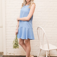Drop Waist Gorgeous Dress, Blue
