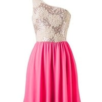 Subtle Sparkle Dress - Neon Pink