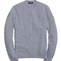 Cashmere Cable Crewneck Sweater - Brooks Brothers