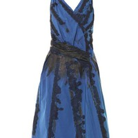BOTTEGA VENETA Lace embroidered sleeveless dress