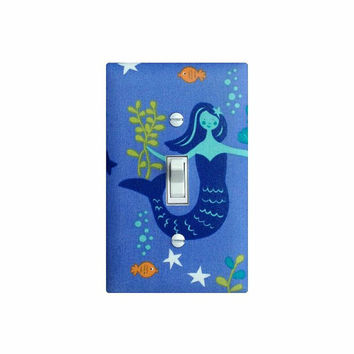 Mermaid Mermaid Light Switch Plate Cover / Nautical Girls Room Bathroom Nursery Decor / Little Mermaid Under the Sea Monaluna