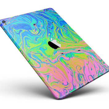 "Neon Color Swirls Full Body Skin for the iPad Pro (12.9"" or 9.7"" available)"