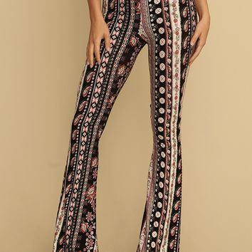 Janelle Printed Flares | Threadsence