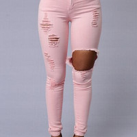 Broken Hole Design Pants