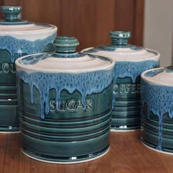 Pottery Ceramic Canister Sets Custom Personalized Made to Order Just for You