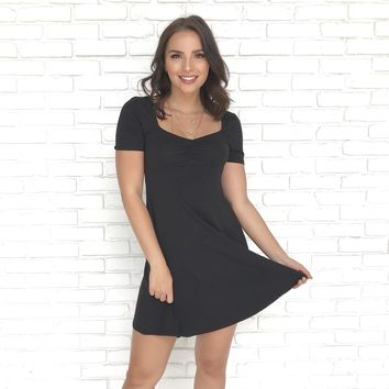 Going For Casual Black Dress