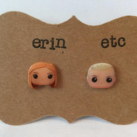 Handmade Plastic Fandom Earrings - Buffy The Vampire Slayer - Spike & Buffy