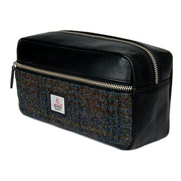 Harris Tweed - Dopp Kit - Toiletry Bag - Dark Sage