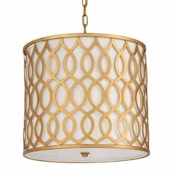Candelabra Home Swirl Pendant - Gold | New Lighting | What's New! | Candelabra, Inc.