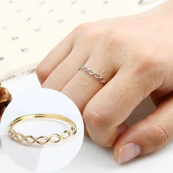 R073 Women Rings Hollow Braid Anillos Fashion Jewelry Anel Wedding Engagement Minimalist Finger Ring Gift