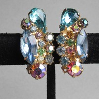 Juliana DeLizza & Elster Vintage Rhinestone Earrings