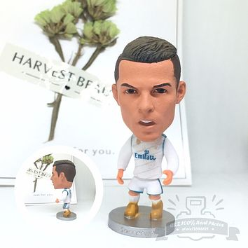 Soccerwe dolls figurine football stars C Ronaldo 17-18 Home Movable joints resin model toy action figure dolls collectible gift