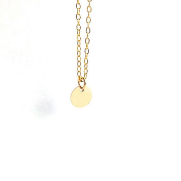 Gold Disc Necklace, Tiny Gold Dot Necklace, Simple Gold Everyday Necklace, Tiny Gold Filled Necklace, Simple Cute Everyday Jewelry