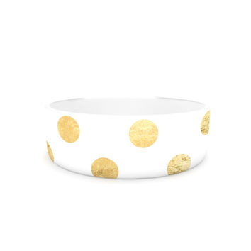 "KESS Original ""Scattered Gold"" Pet Bowl"