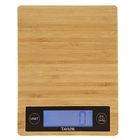Taylor Bamboo Kitchen Scale w/Large LED Display — QVC.com